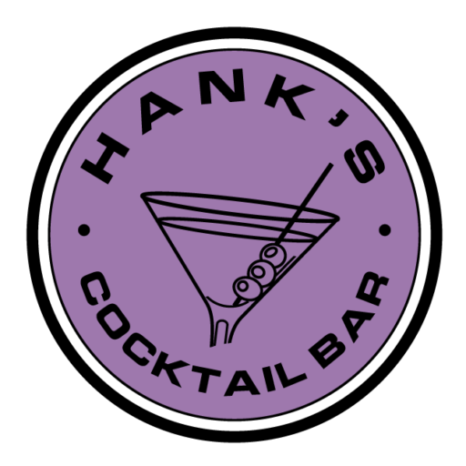 Logo for Print: Hank's Cocktail bar